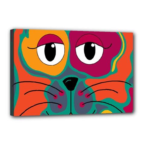 Colorful cat 2  Canvas 18  x 12