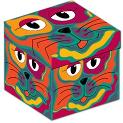 Colorful cat 2  Storage Stool 12