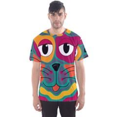 Colorful cat 2  Men s Sport Mesh Tee
