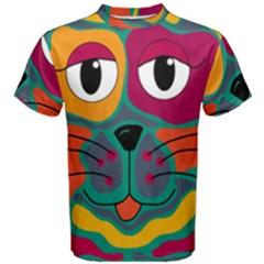Colorful cat 2  Men s Cotton Tee