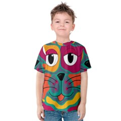 Colorful cat 2  Kids  Cotton Tee