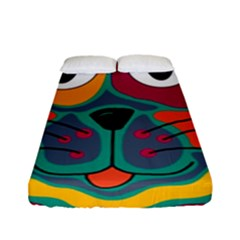 Colorful cat 2  Fitted Sheet (Full/ Double Size)