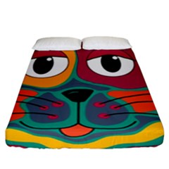 Colorful cat 2  Fitted Sheet (King Size)