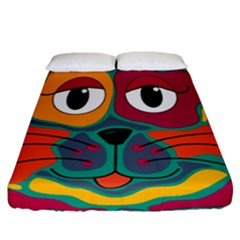 Colorful cat 2  Fitted Sheet (California King Size)