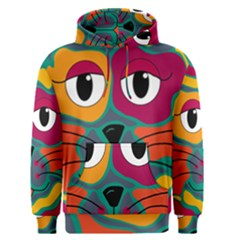 Colorful cat 2  Men s Pullover Hoodie