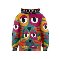Colorful cat 2  Kids  Pullover Hoodie