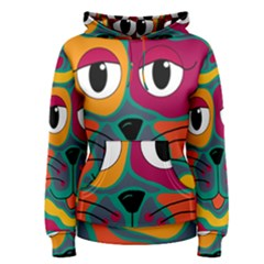 Colorful cat 2  Women s Pullover Hoodie