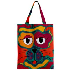 Colorful cat 2  Zipper Classic Tote Bag