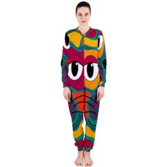 Colorful cat 2  OnePiece Jumpsuit (Ladies)