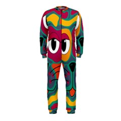 Colorful cat 2  OnePiece Jumpsuit (Kids)