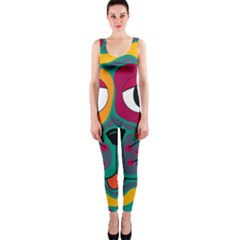 Colorful cat 2  OnePiece Catsuit