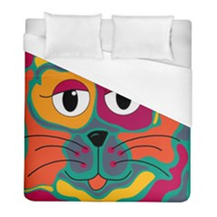 Colorful cat 2  Duvet Cover (Full/ Double Size)