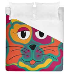 Colorful cat 2  Duvet Cover (Queen Size)