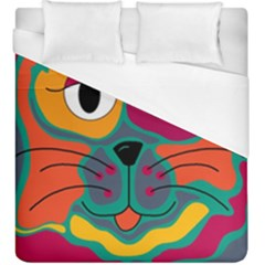 Colorful cat 2  Duvet Cover (King Size)