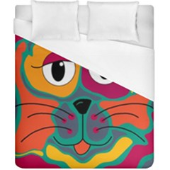 Colorful cat 2  Duvet Cover (California King Size)