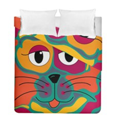 Colorful cat 2  Duvet Cover Double Side (Full/ Double Size)