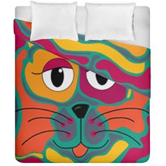 Colorful cat 2  Duvet Cover Double Side (California King Size)