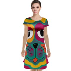 Colorful cat 2  Cap Sleeve Nightdress