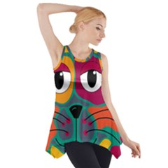 Colorful cat 2  Side Drop Tank Tunic