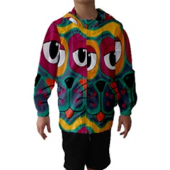 Colorful cat 2  Hooded Wind Breaker (Kids)
