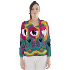 Colorful cat 2  Wind Breaker (Women)