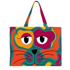 Colorful cat 2  Large Tote Bag