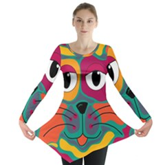 Colorful cat 2  Long Sleeve Tunic