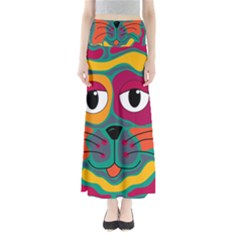 Colorful cat 2  Maxi Skirts