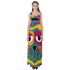 Colorful cat 2  Empire Waist Maxi Dress