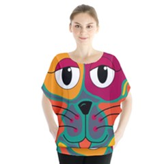 Colorful cat 2  Blouse