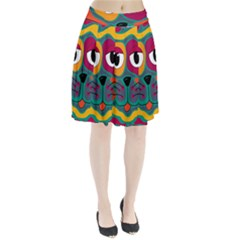 Colorful cat 2  Pleated Skirt