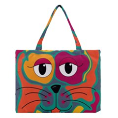 Colorful cat 2  Medium Tote Bag