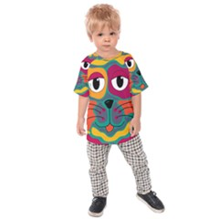 Colorful cat 2  Kids  Raglan Tee