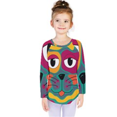 Colorful cat 2  Kids  Long Sleeve Tee