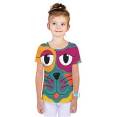 Colorful cat 2  Kids  One Piece Tee