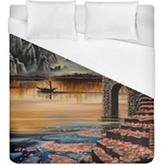 Japanese Lake Of Tranquility Duvet Cover (king Size)