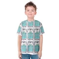 Beer Pattern Drawing Kids  Cotton Tee