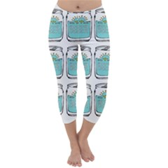 Beer Pattern Drawing Capri Winter Leggings