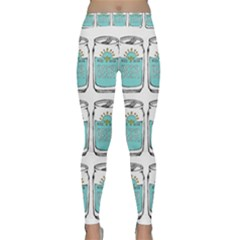 Beer Pattern Drawing Classic Yoga Leggings