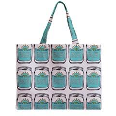 Beer Pattern Drawing Zipper Mini Tote Bag