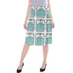 Beer Pattern Drawing Midi Beach Skirt