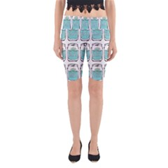 Beer Pattern Drawing Yoga Cropped Leggings