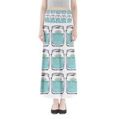 Beer Pattern Drawing Maxi Skirts