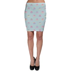 Butterfly Pastel Insect Green Bodycon Skirt