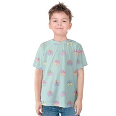 Butterfly Pastel Insect Green Kids  Cotton Tee