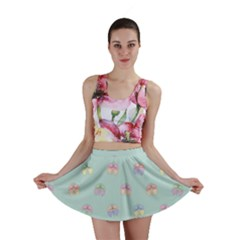 Butterfly Pastel Insect Green Mini Skirt