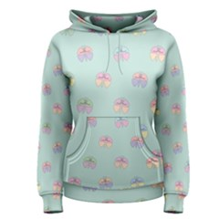 Butterfly Pastel Insect Green Women s Pullover Hoodie