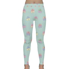 Butterfly Pastel Insect Green Classic Yoga Leggings