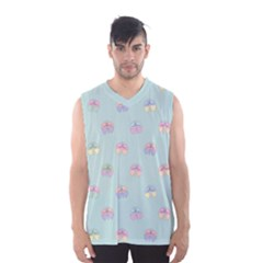 Butterfly Pastel Insect Green Men s Basketball Tank Top