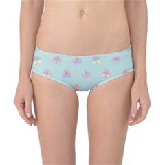 Butterfly Pastel Insect Green Classic Bikini Bottoms